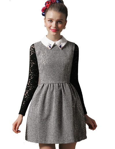 /grey-sleeveless-sequined-collar-tweed-dress-p-1243.html