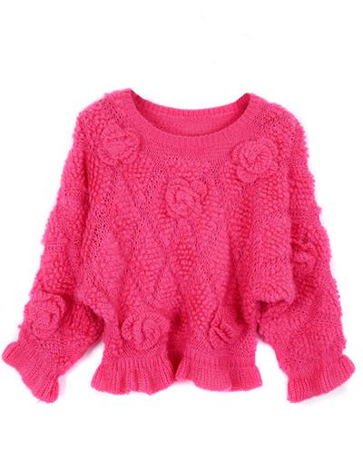 /3d-floral-rose-frill-peplum-crop-sweater-knitwear-rose-red-p-1225.html