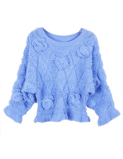 /3d-floral-rose-frill-peplum-crop-sweater-knitwear-blue-p-1226.html