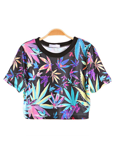/maple-leaf-print-baremidriff-crop-top-short-tee-t-shirt-p-440.html