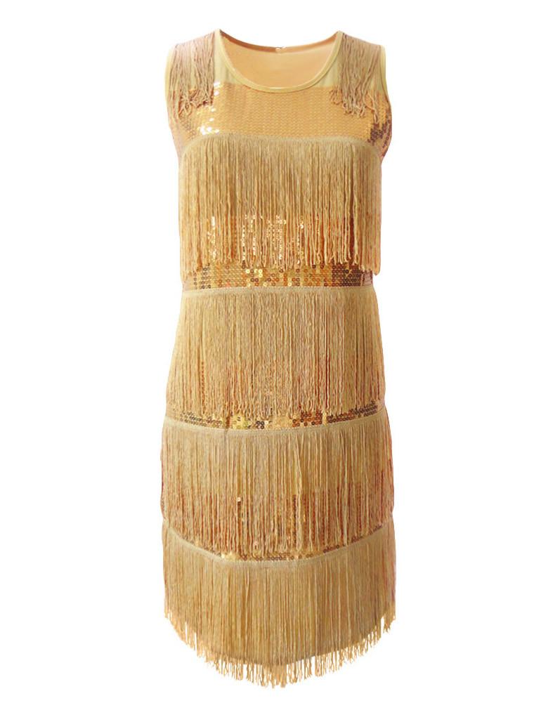 vestido shift beige flor 3d gem stone bead escote