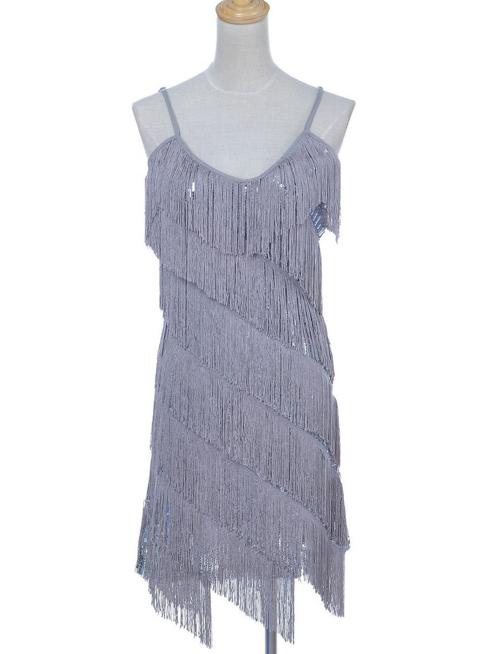 Sequin Fringe 1920s Flapper Inspired Dress - PrettyGuide