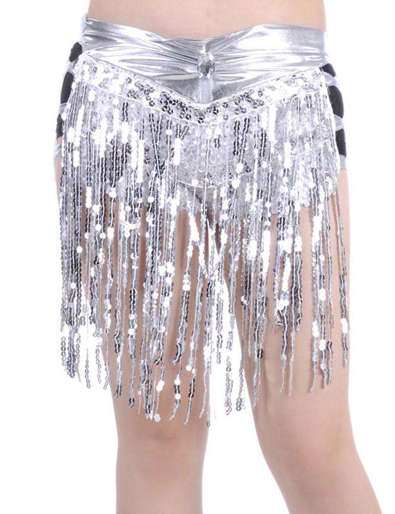 ba65d574ef Metallic Inspired Sequin Fringe Shorts Silver - PrettyGuide