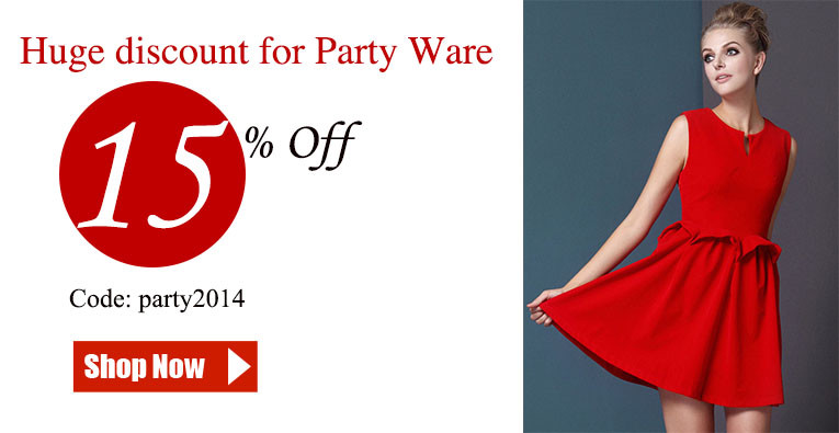 15% off for party dresses for women 2014
