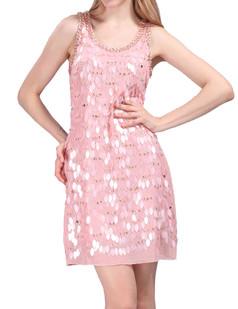 /scale-sequins-plaid-sleeveless-vest-dress-pink-p-4354.html