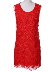 /lace-seashell-pattern-beads-embellished-dress-p-3648.html