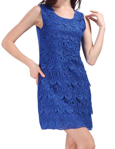 /lace-seashell-pattern-beads-embellished-dress-blue-p-3650.html
