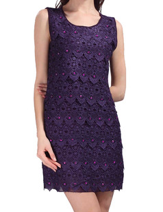 /lace-seashell-pattern-beads-embellished-dress-purple-p-3656.html