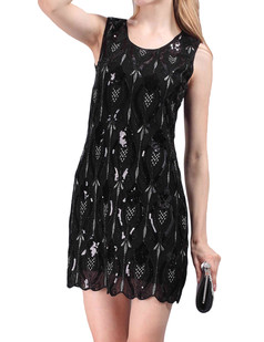 /peacock-feather-pattern-sequin-embellishments-shift-dress-p-4294.html