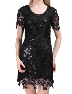 /sequin-embroidery-floral-short-sleeve-mini-dress-black-p-4016.html