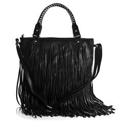/black-pu-leather-punk-tassel-fringe-handbag-shoulder-handle-bag-hobo-satchel-bag-p-178.html