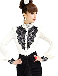 /ol-stand-collar-shirt-blouse-top-white-p-2656.html