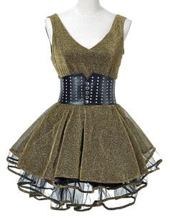 /gold-shimmer-ruffle-hem-stud-belt-party-dress-p-4022.html