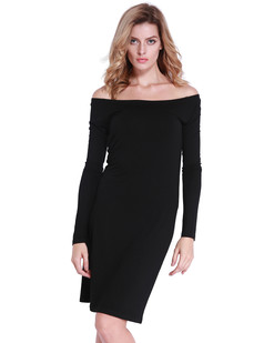 /off-shoulder-stretchy-midi-dress-black-p-6838.html