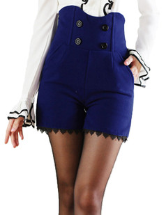 /british-style-high-waisted-woolen-shorts-hem-blue-p-4694.html