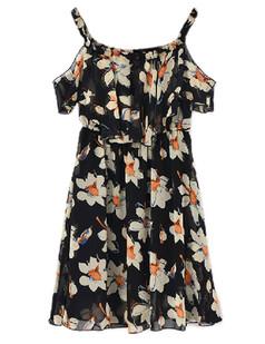 /pt/elastic-offshoulder-daisy-print-chiffon-dress-black-p-2474.html