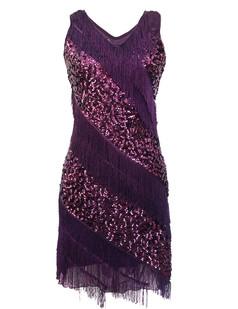 /purple-v-neck-sequin-deco-asymmetrical-fringed-dress-p-6244.html