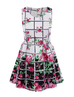 /fr/plaid-floral-chiffon-dress-white-p-2542.html