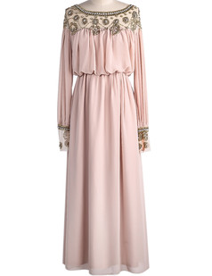 /pink-beads-embellished-chiffon-maxi-dress-p-1722.html