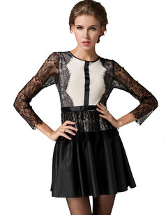 /long-sleeve-eyelash-lace-mix-leather-party-dress-p-1248.html
