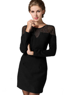 /long-sleeve-beaded-mesh-shoulder-black-dress-p-1251.html