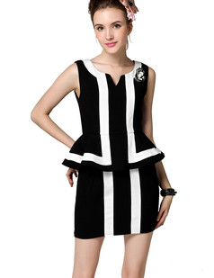 /sleeveless-black-and-white-striped-contrast-shift-dress-p-1592.html