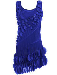 /blue-flower-fringe-ornate-double-side-petal-hem-dress-p-6264.html