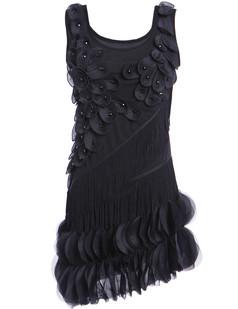 /black-flower-fringe-ornate-double-side-petal-hem-dress-p-6262.html