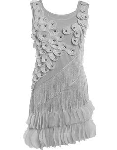 /gray-flower-fringe-ornate-double-side-petal-hem-dress-p-6358.html