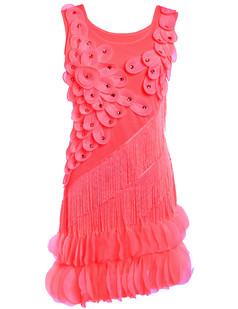 /watermelon-red-flower-fringe-ornate-double-side-petal-hem-dress-p-6374.html