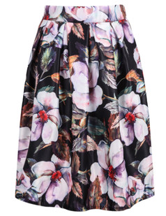 /ink-flower-pleated-print-skirt-black-p-6138.html