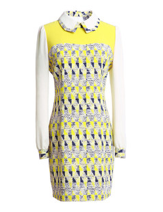 /women-vingtage-geometry-print-pencil-dress-p-670.html