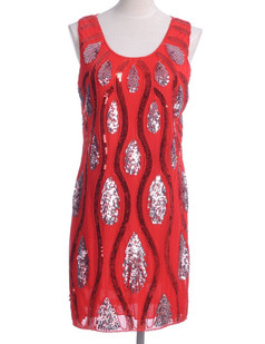 /red-peacock-feather-pattern-sequin-embellishments-shift-dress-p-1806.html