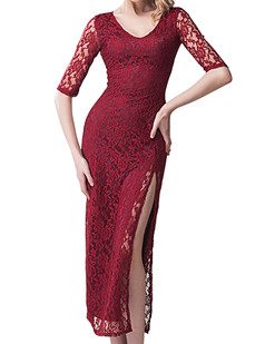 /burgundy-half-sleeve-high-split-lace-crochet-maxi-dress-p-6520.html