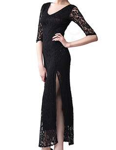 /black-half-sleeve-high-split-lace-crochet-maxi-dress-p-6510.html