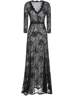 /black-floral-lace-23-sleeves-long-bridesmaid-maxi-dress-p-6574.html