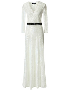 /white-floral-lace-23-sleeves-long-bridesmaid-maxi-dress-p-6586.html