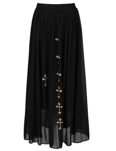 /women-bronzing-cross-print-chiffon-maxi-skirt-p-570.html