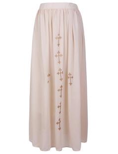 /women-bronzing-cross-print-chiffon-maxi-skirt-p-569.html