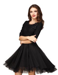 /half-sleeve-handbeaded-chiffon-big-hem-lace-dress-p-890.html