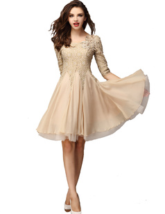 /half-sleeve-handbeaded-chiffon-big-hem-lace-dress-p-887.html