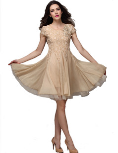 /beige-short-sleeve-handbeaded-chiffon-big-hem-lace-dress-p-1704.html