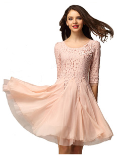 /half-sleeve-handbeaded-chiffon-big-hem-lace-dress-p-882.html