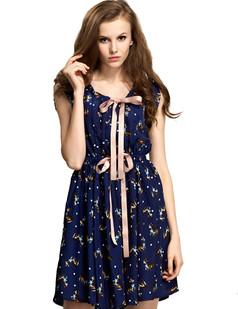 /navy-wapiti-printed-bow-tunic-sleeveless-chiffon-dress-p-1502.html