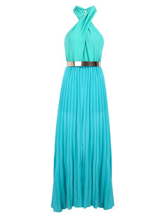 /halter-sleeveless-pleated-chiffon-maxi-dress-with-belt-blue-p-4068.html