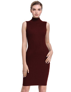 /ja/sleeveless-turtleneck-ribbed-knit-casual-bodycon-dress-burgundy-p-7658.html