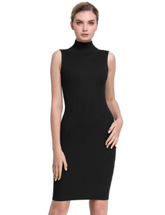 /fr/sleeveless-turtleneck-ribbed-knit-casual-bodycon-dress-black-p-7660.html