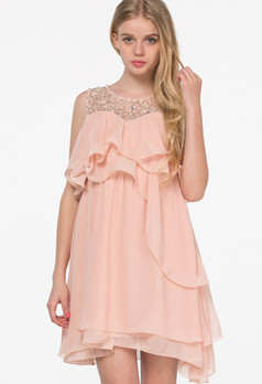 /pink-sleeveless-bead-ruffle-chiffon-dress-p-1579.html