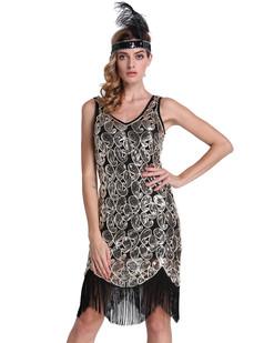 /black-v-neck-sequin-paisley-flapper-tassel-hem-dress-p-6894.html