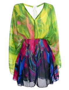 /color-print-bat-sleeves-pleated-chiffon-sunblock-mini-dress-p-3590.html